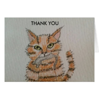 Gift from the Cat - Thank You card
