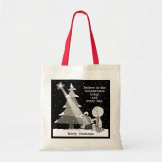 Gift Giver-Merry Christmas Budget Tote Bag
