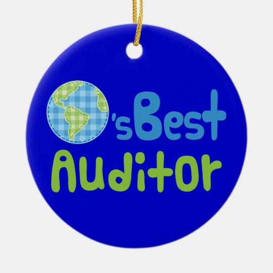 Gift Idea For Auditor (Worlds Best) Christmas Ornament