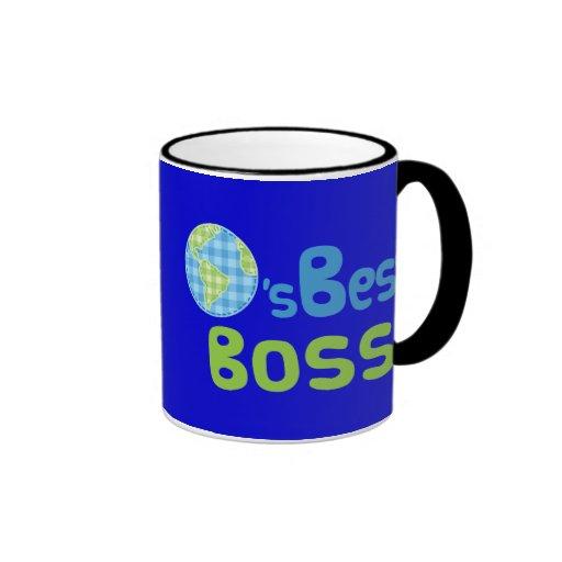 Gift Idea For Boss (Worlds Best) Mugs