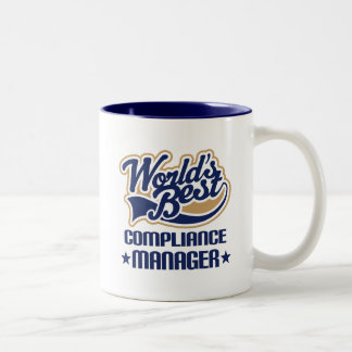 Gift Idea For Compliance Manager (Worlds Best) Two-Tone Mug