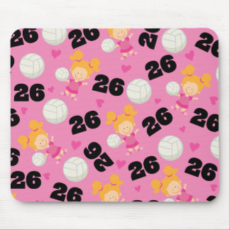 Gift Idea For Girls Volleyball Player Number 26 Mouse Mat