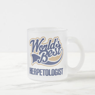 Gift Idea For Herpetologist (Worlds Best) Frosted Glass Mug