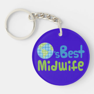 Gift Idea For Midwife (Worlds Best) Key Ring