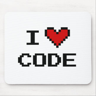 Gift idea for programmer | i heart code mousepad