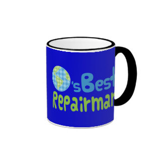 Gift Idea For Repairman (Worlds Best) Ringer Mug