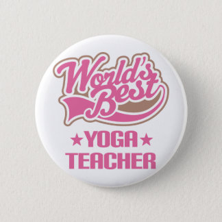 Gift Idea For Yoga Teacher Women (Worlds Best) 6 Cm Round Badge