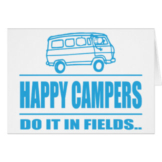 Gift Items For The Happy Inspired Camper Greeting Card