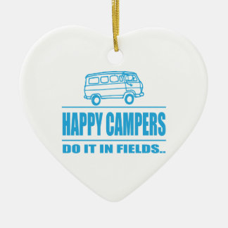 Gift Items For The Happy Inspired Camper Ceramic Heart Decoration