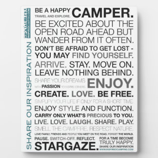 Gift Items For The Happy Inspired Camper Display Plaque