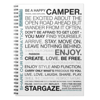 Gift Items For The Happy Inspired Camper Notebooks