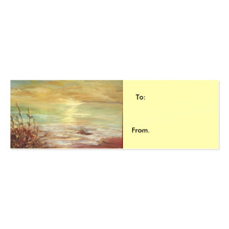 gift label pack of skinny business cards