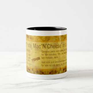 Gift Mug: 5-Minute Mac N Cheese Recipe Two-Tone Coffee Mug