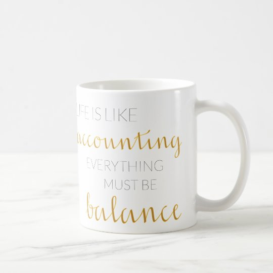 Gift mug for accountant with customisable alphabet
