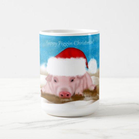 Gift Mug Happy Piggin Christmas - Holiday Pig