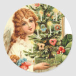 Gift of an Angel at Christmas Round Sticker