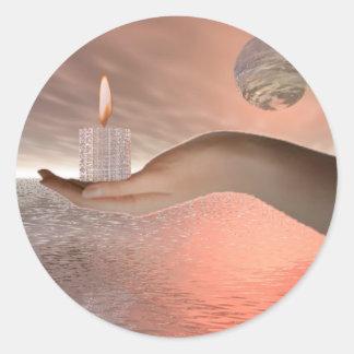 Gift of light round sticker