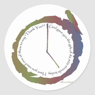Gift of Time (clock) Classic Round Sticker