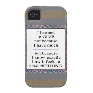 GIFT Positive Wisdom - Encourage giving for causes iPhone 4/4S Cover