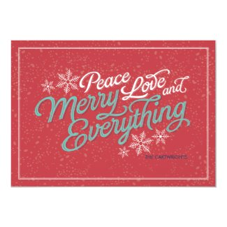 Gift Red Ribbon Script Holiday Card