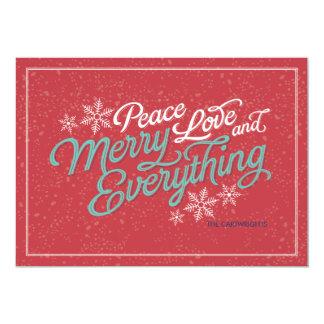 Gift Red Ribbon Script Holiday Card 13 Cm X 18 Cm Invitation Card