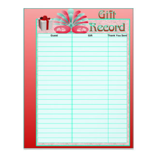 Gift Register Pages For Wedding Album Flyer