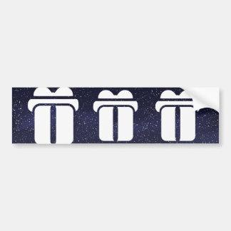 Gift Rewards Sign Bumper Sticker