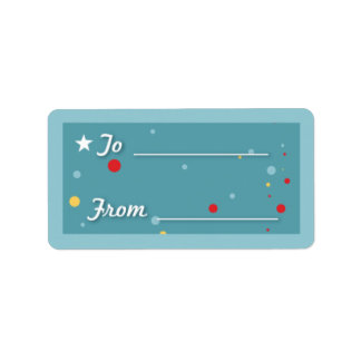Gift Tag - Blue Address Label
