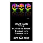 Gift Tag, Business Card - POP ART SKULLS