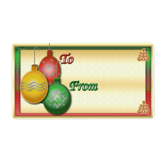 Gift tag Christmas labels