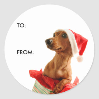 Gift Tag Classic Round Sticker