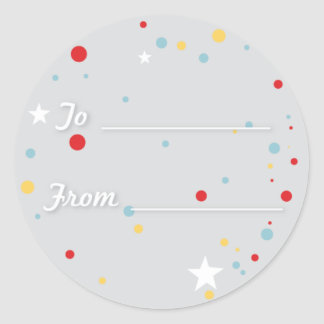 Gift Tag - Grey Classic Round Sticker
