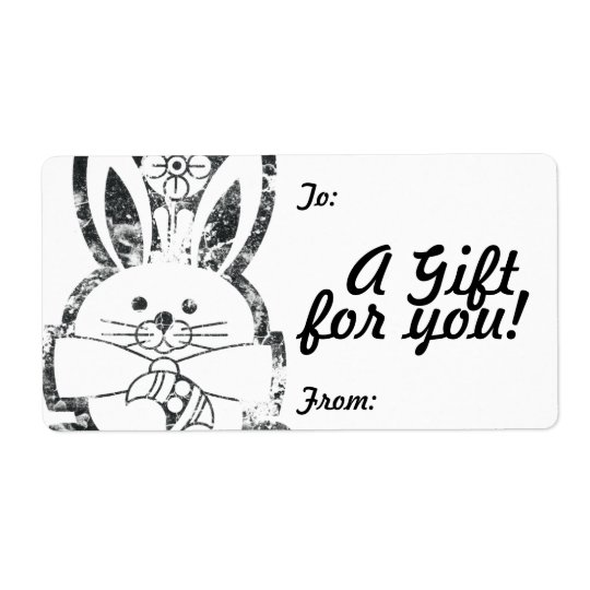Gift Tag Label Template To/From Customisable Shipping Label