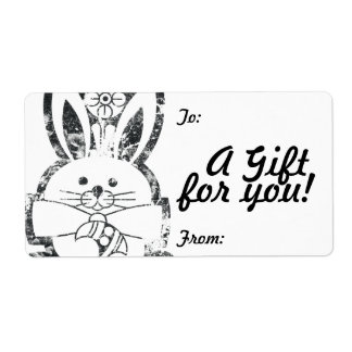 Gift Tag Label Template To/From Customizable Shipping Label