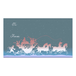 GIFT TAG MERRY CHRISTMAS COACH by SHARON SHARPE Business Card Templates