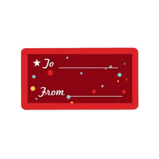 Gift Tag - Red Address Label