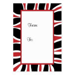 Gift tag red, black and white frame pack of chubby business cards