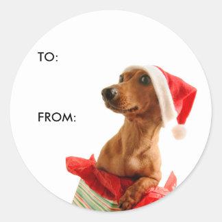 Gift Tag Round Sticker