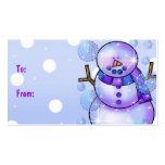 Gift Tag-Snowman Happy Holidays Christmas Pack Of Standard Business Cards