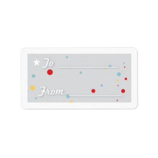 Gift Tag - White Address Label