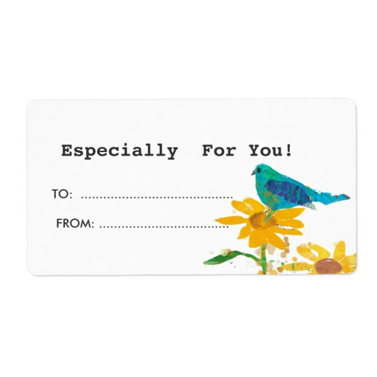 Gift Tag With Blue Bird