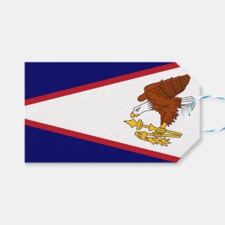 Gift Tag with Flag of American Samoa, USA