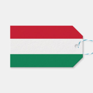 Gift Tag with Flag of Hungary
