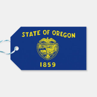 Gift Tag with Flag of Oregon State, USA