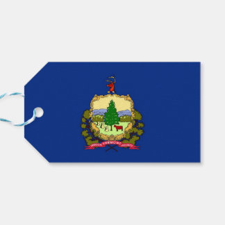 Gift Tag with Flag of Vermont State, USA