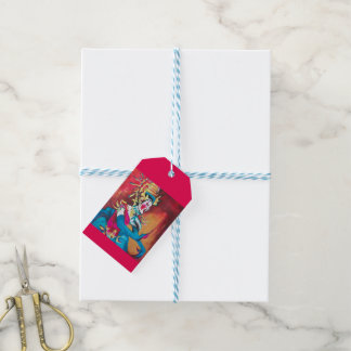 Gift tag with Thai dancer