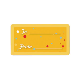 Gift Tag - Yellow Address Label
