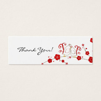 Gift Tags, Lovebirds, Thank You Mini Business Card