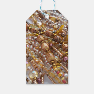 Gift Tags- Natural Earth Tones Bead Print Gift Tags