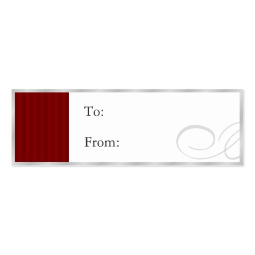 Gift Tags Silver/Red Business Card